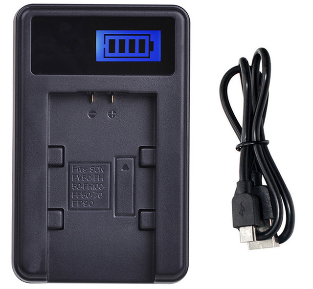 NP-FH100 InfoLITHIUM H Series NP-FH40 NP-FH50 Micro USB Battery Charger for Sony NP-FH30 NP-FH70 NP-FH60