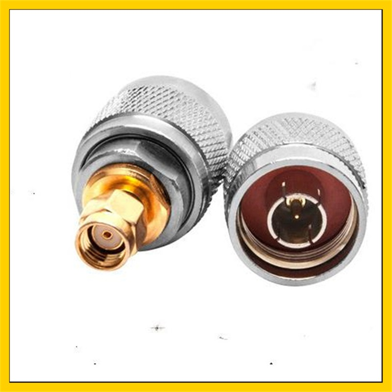 2PCS RF Adapter   N Male Plug To RP SMA Male (hole ) RF Coaxial Adapter Connector