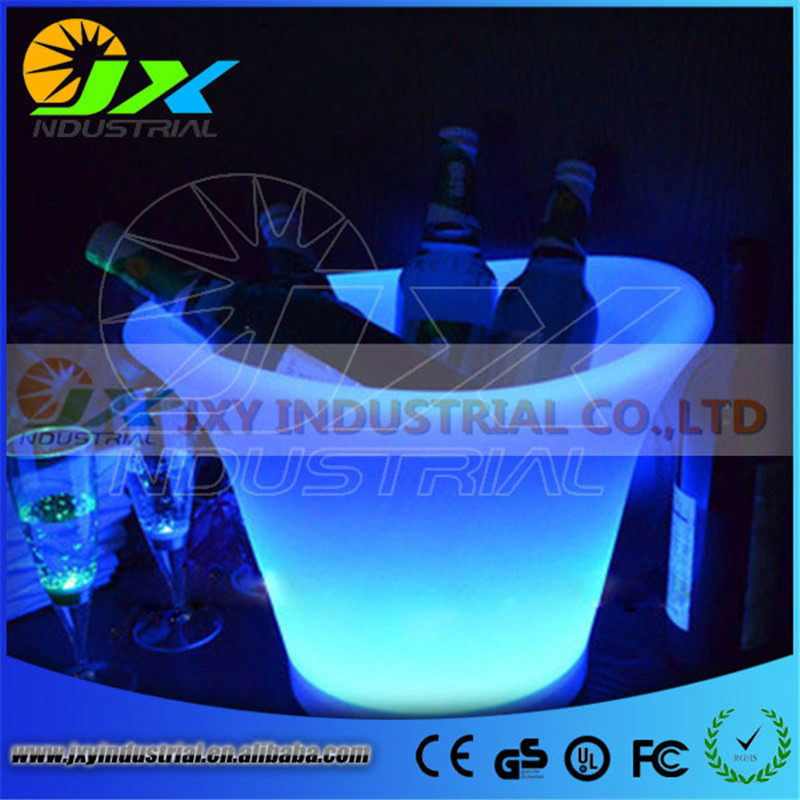 Free Shipping 5L Volume plastic led ice bucket color changing,5L bars nightclubs LED light up ice bucket Champagne beer bucket free shipping color changeable large quadrange seau a champagne bucket led multicolor led ice bucket remote controller adapter