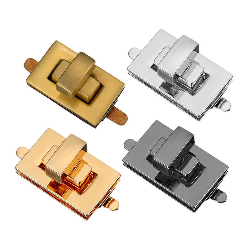 3pcs DIY Hardware Turn Twist Lock Buckle Bag Lock Buckle Metal Turn Lock Twist Clasp Closure Purse Accessories Parts Silver Gold