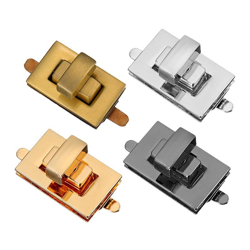 где купить DIY Hardware Turn Twist Lock Buckle Bag Lock Buckle Metal Turn Lock Twist Clasp Closure For Purse Accessories Parts Silver Gold дешево