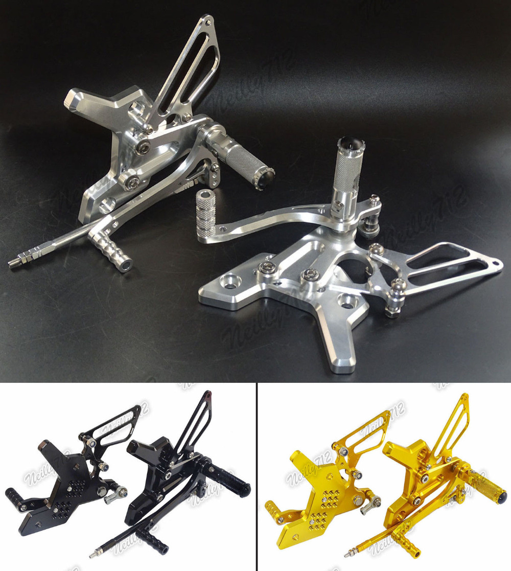 Motorcycle CNC Aluminium Adjustable Rider Rear Sets Rearset Footrest Foot Fold Rest Pegs For KAWASAKI Z750 Z750S 2004 2005 2006 все цены