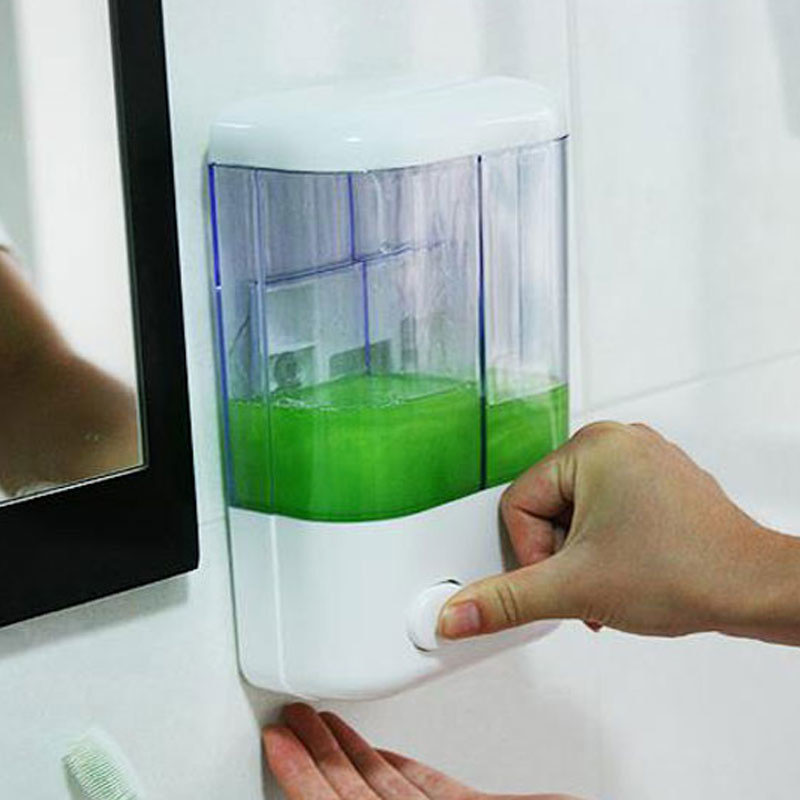 EVERSO Soap Dispenser Detergent Bathroom Wall Dispensers for Liquid Soap Shower Shampoo Hand Shower Refill Detergent Dispensers
