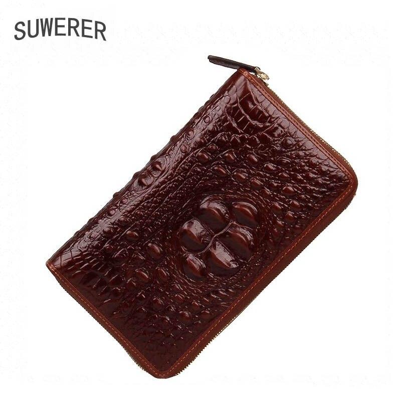 Gli uomini del Cuoio genuino borse per gli uomini di 2019 nuove borse di lusso degli uomini di borse in pelle di design mens portafogli e borse frizione Della Busta borsa - 2