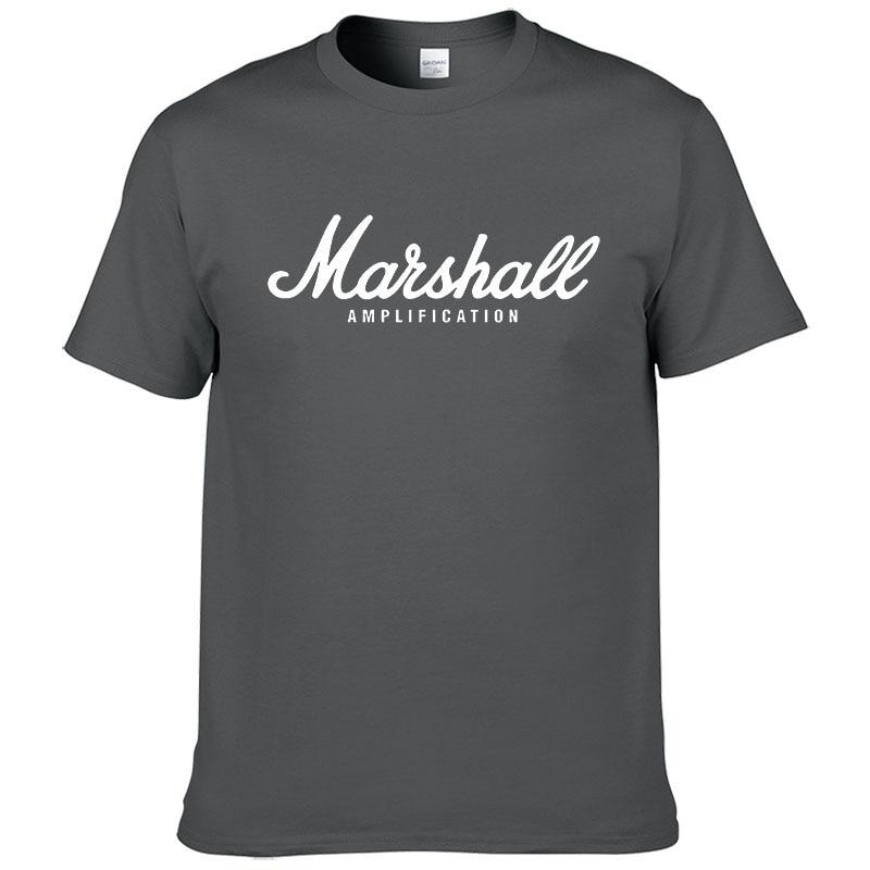 100% cotton Marshall T Shirt men short sleeves tee hip hop street wear for fans hipster 6