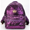 New Fashion Women Backpack Crown Sequins Bags Travel Backpacks school bags for teenagers Girls portfolio High Quality -47