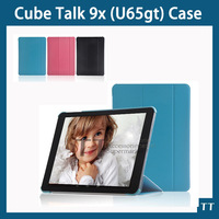 Cube Talk 9X U65GT Smart Case Fashion Slim Leather Folio Sleep Cover Stand For Cube Talk