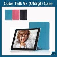 Cube Talk 9X U65GT Smart Case Fashion Slim Leather Folio Sleep Cover Stand For Cube Talk