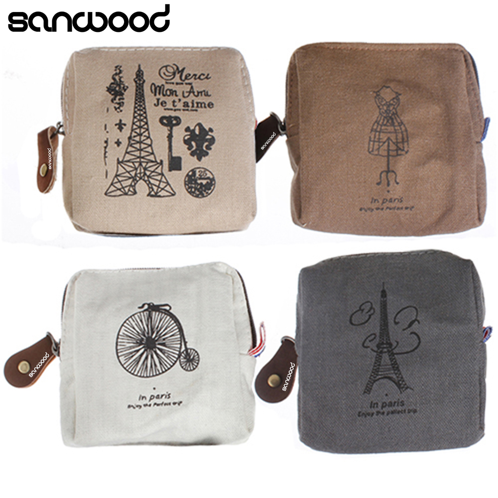 Retro Classic Canvas Tower Wallet Card Key Coin Purse Bag Pouch Case for Women Girl c ts014 mulberry leaves tea chinese herbal detox tea mulberry tea benefits for belly slimming tea and blood pressure lowering