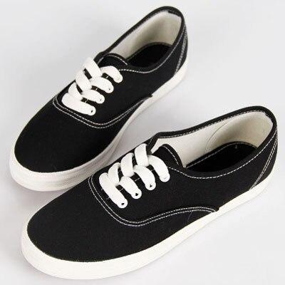 Весной и летом повседневная обувь для женщин взрывные конфеты цвет мода 2017 холст обувь студенты квартиры небольшой белый низкий обуви
