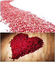 Accessori da sposa 2020 best Vendita 5000/pack 5*5 centimetri petali di rosa per la Decorazione di Cerimonia Nuziale, romantico Artificiale Petali di Rosa