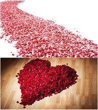 Acessórios do casamento 2020 melhor venda 5000/pacote 5*5cm pétalas de rosa para a decoração do casamento, pétalas de rosa artificiais românticas