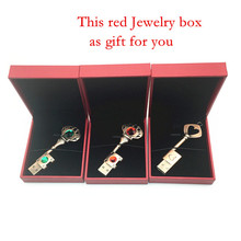 Heart Key 4G 8G 16G 32G USB PenDrive + Red Jewelry box Memory Stick Waterproof Metal Pen Drive key ring External Disk