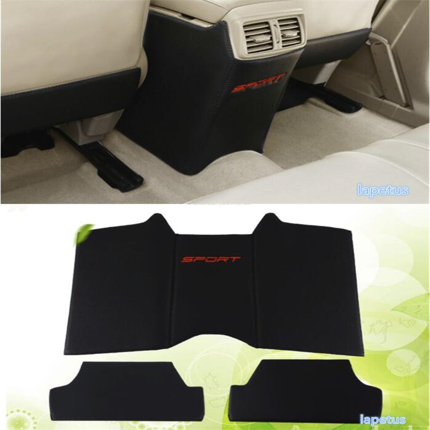 Lapetus Seat & Armrest Box Protection Pad Kick Anti Pad Cover Trim For Nissan X-Trail X Trail T32 Rogue 2014 2015 2016 2017 2018 fog light lamps kit for nissan rogue x trail t32 x trail without auto 2017