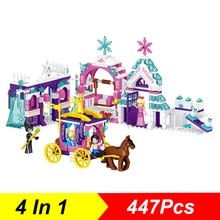 447Pcs Friends Series 4 In 1Happy Dream Princess Paradise Building Blocks Girls Model Compatible Legoings Friend Toys Kid Gift(China)