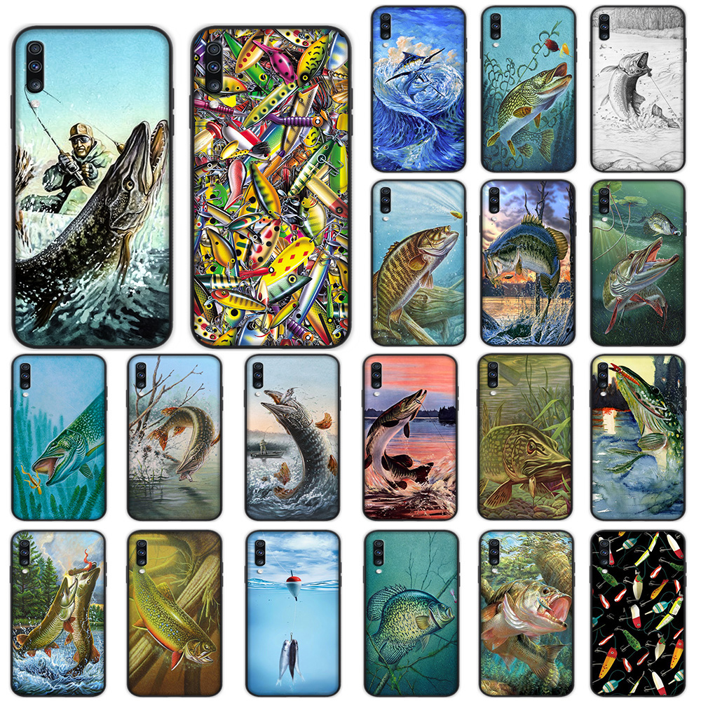 Pike Fish Art Fishing Lure Soft Case for Samsung Galaxy A5 A6 A7 A8 A9 Plus A10 A20 A30 A40 A50 A60 A70 M40 Cover image