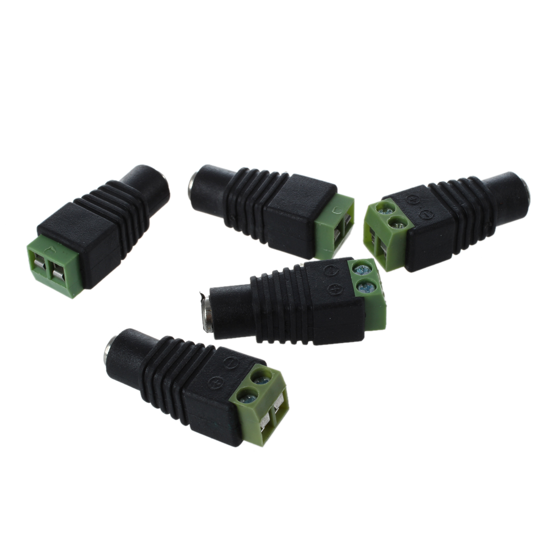 5X DC Power Female Jack 5.5X 2.1mm Connector Cable Adapter Plug CCTV DVR Camera