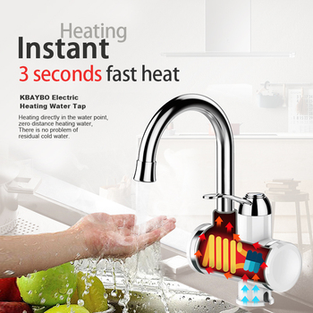 3000W Instant electric Water Heater Tap Kitchen faucet water filter 2 kinds of outlet mode can be consumed directly 1