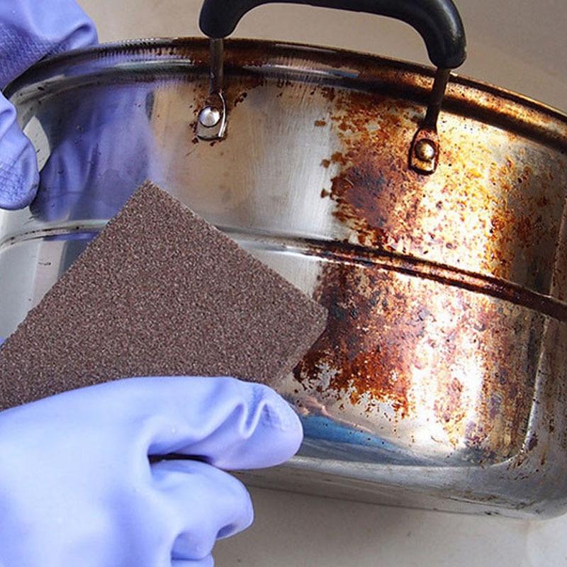 1Pcs Sponge Magic Eraser For Removing Rust Cleaning Cotton Emery Sponge Melamine Kitchen Supplies Descaling Clean Rub Pot