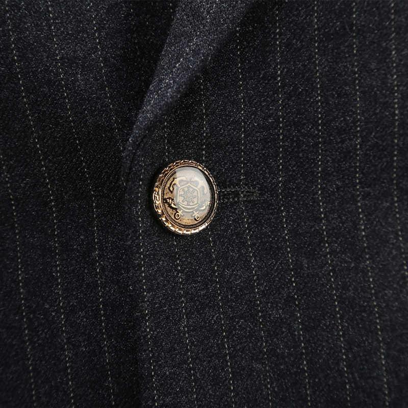Plyesxaleダブルブレストスーツ男性2018スリムフィットメンズウェディングスーツ黒グレーメンズスーツでパンツビジネスフォーマル着用q84