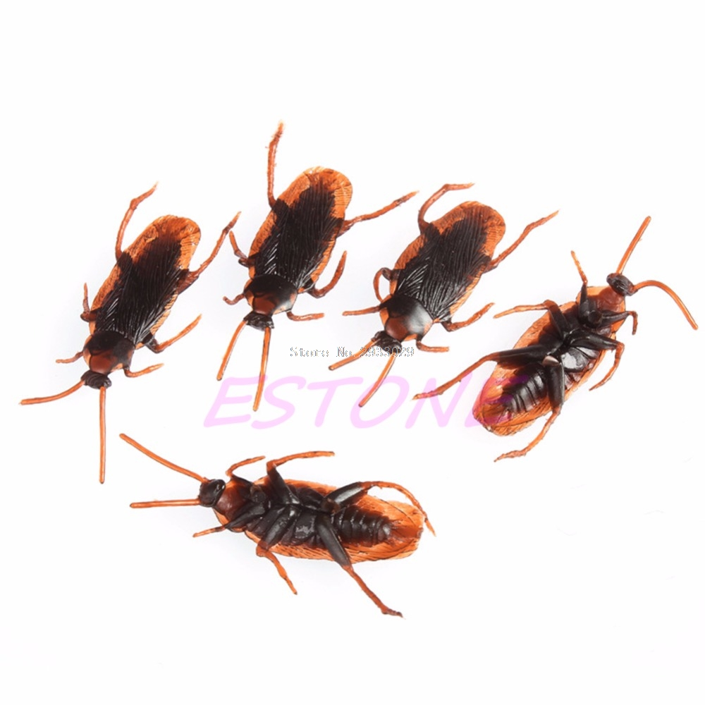 1Pc Practical Joke Insect Bug Toy Cockroaches Prank Props Decorations Fake Cockroach -B116