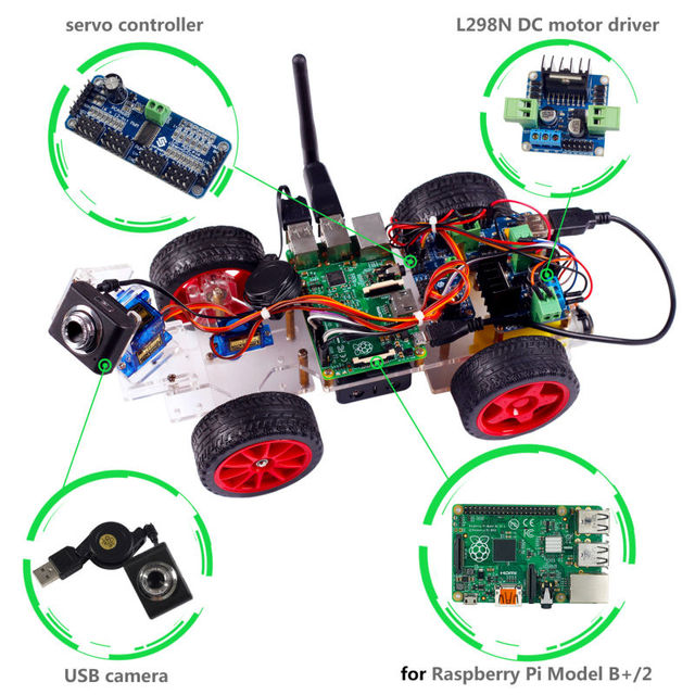 Raspberry Pi Robot Project Smart Video Robot Car For Raspberry Pi 3 ...