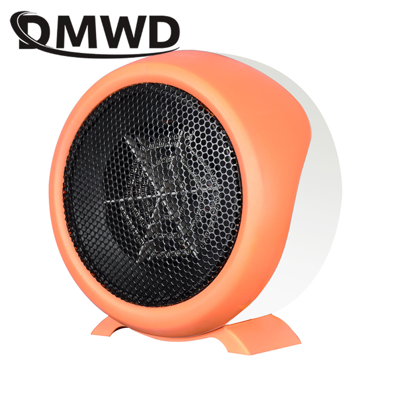 DMWD Electric Heater Mini Hot Air Heating Fan Machine Portable Personal Winter Warmer Desktop Stove Radiator Home Office EU plug dmwd mini portable fan heater hand electric air warmer heating winter keep warm desk fan for office home 50w overheat protection