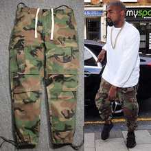 kanye west casual fashion hip hop factory connection mens clothing military  cargo pants camouflage camo joggers