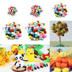 100 pcs DIY Artesanato Colorido Mini Fofo Pom poms Bola Sentiu 30 20 10mm mm mm