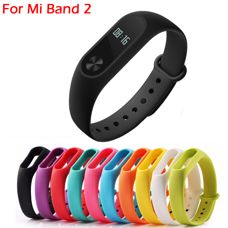Mi Band 2 Silicone Replacement Strap Colorful font b Smart b font Band Bracelet font b