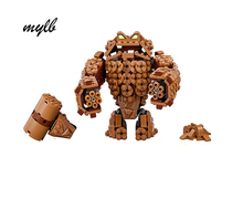 mylb Batman Movie Series The Rock Monster Clayface Splat Attack Building Blocks Bricks Toys Compatible with DIY