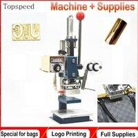 2018 Nowa Torba Skóra wtłaczania logo printing machine maszyna tłoczenie folią na gorąco do torebek skórzanych, portfele, pasy
