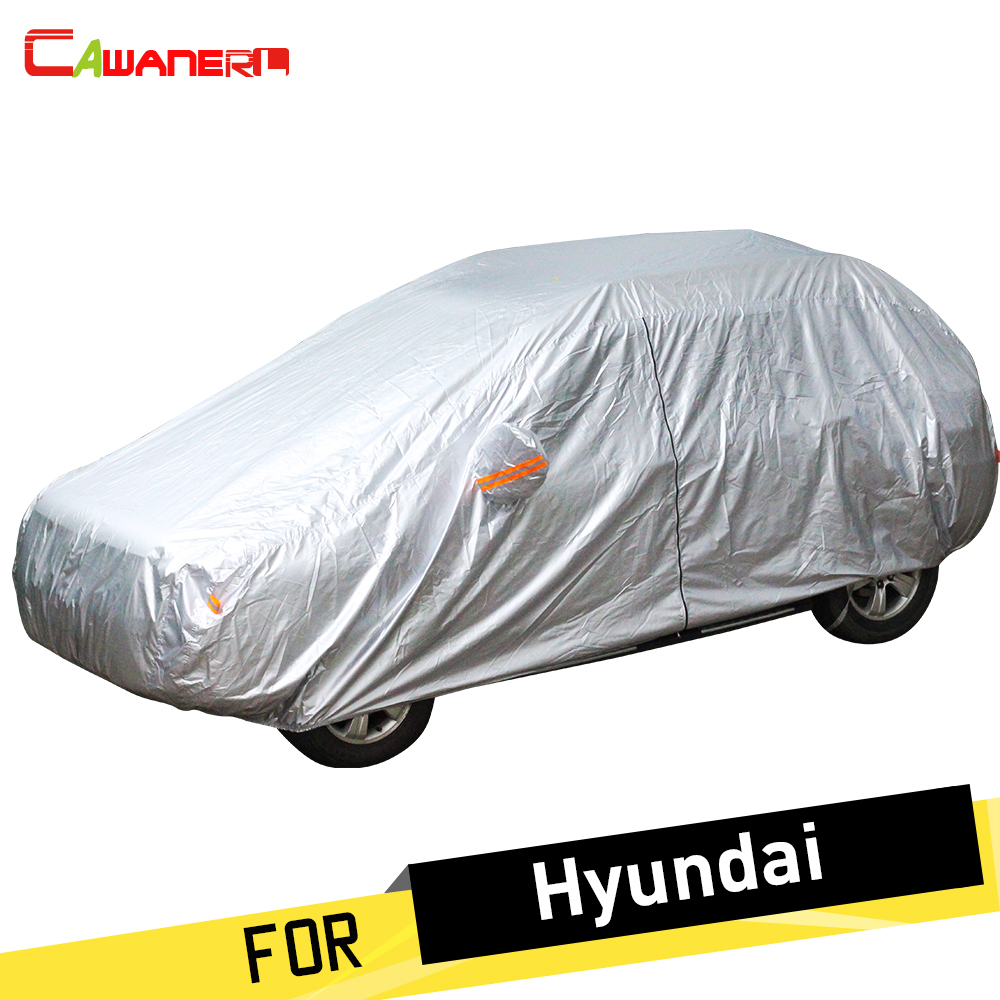 Cawanerl Car Cover Auto Anti UV Sun Rain Snow Protector Dust Proof Cover For Hyundai Atos