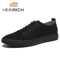 HEINRICH/Новинка 2019, брендовая мужская обувь на плоской подошве, летняя модная мужская обувь, удобная классическая мужская повседневная обувь,