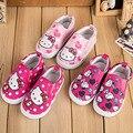 Горячие Детская Обувь 2016 Детская Обувь Повседневная Холст Обувь Детская Кроссовки Обувь Для Девочек Малыша Девушки Кроссовки Скольжения на Бездельников tx0370