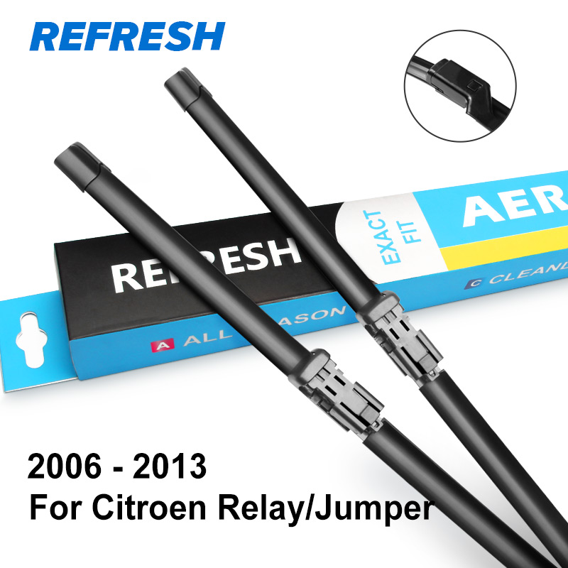 REFRESH Щетки стеклоочистителя для Citroen Relay / Jumper Fit Hook / Push Button Arms Точная модель крепления Год выпуска с 1994 по 2013 год - Цвет: 2006 - 2013