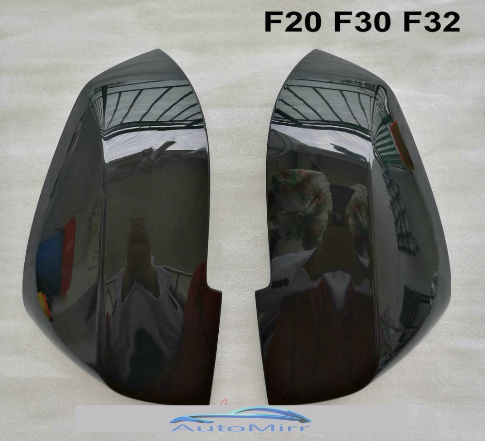 BMW 1 SERIES GLOSS BLACK DOOR WING MIRROR TOP COVERS CASINGS FRONT CAPS F20 F21
