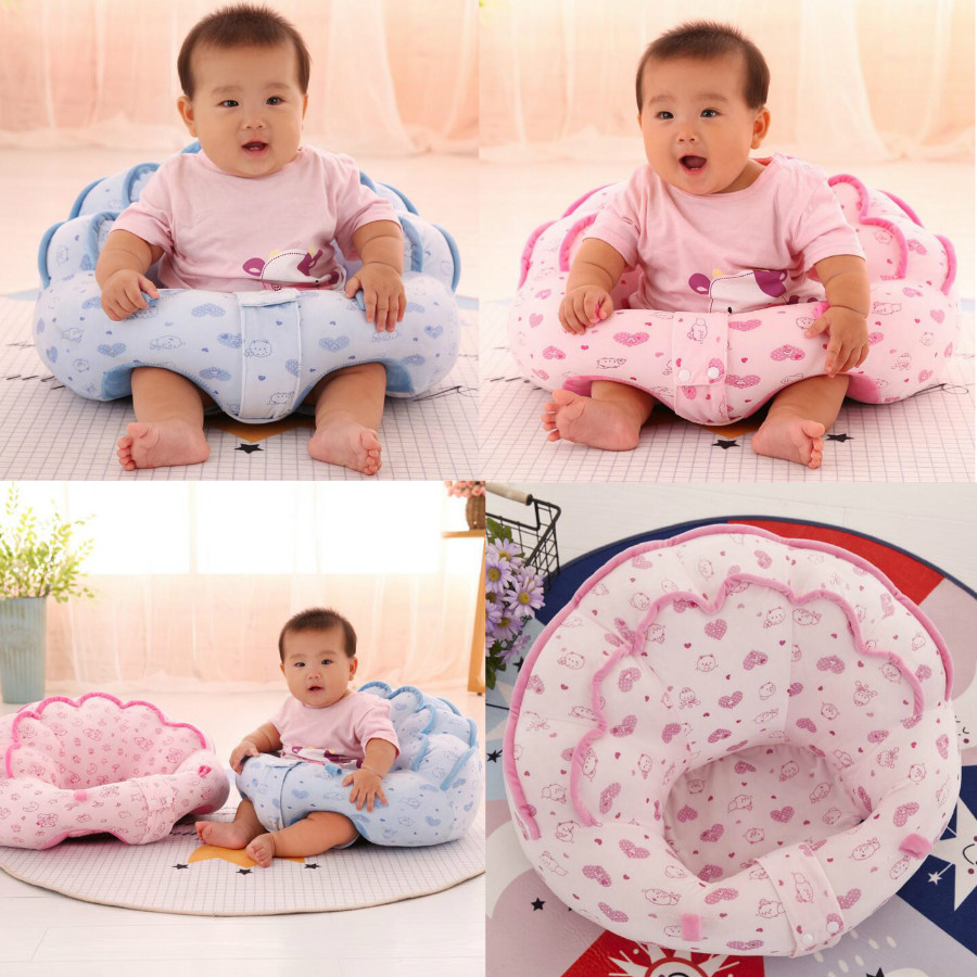 Fullfill  40*45*20cm Plush Soft Baby Sofa Infant Learning To Sit Chair Keep Sitting Posture Comfortable For 0-3 Months Baby