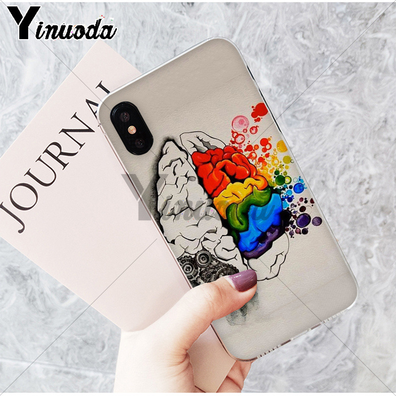 Yinuoda Medical Human Organs Brain Meridian Kidney Art TPU Phone Cover for iPhone X XS MAX 6 6S 7 7plus 8 8Plus 5 5S XR
