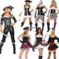 2017 Новый Сексуальные Женщины Пиратский Костюм высокое качество Fancy Dress Perfor mance Карнавал Хэллоуин черный Взрослых Партии Cosplay Костюмы