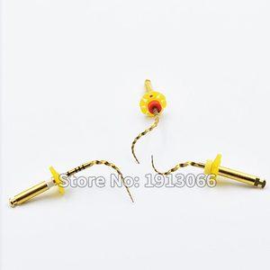Image 3 - שיניים זהב גמיש קבצי אנדו סיבובי קבצי זהב שורש קבצי 25mm ניקל titainium מכשיר רפואת שיניים