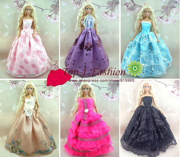Baby flicka barn födelsedagspresent 5st klänning Dolls bröllop - Dockor och tillbehör - Foto 3
