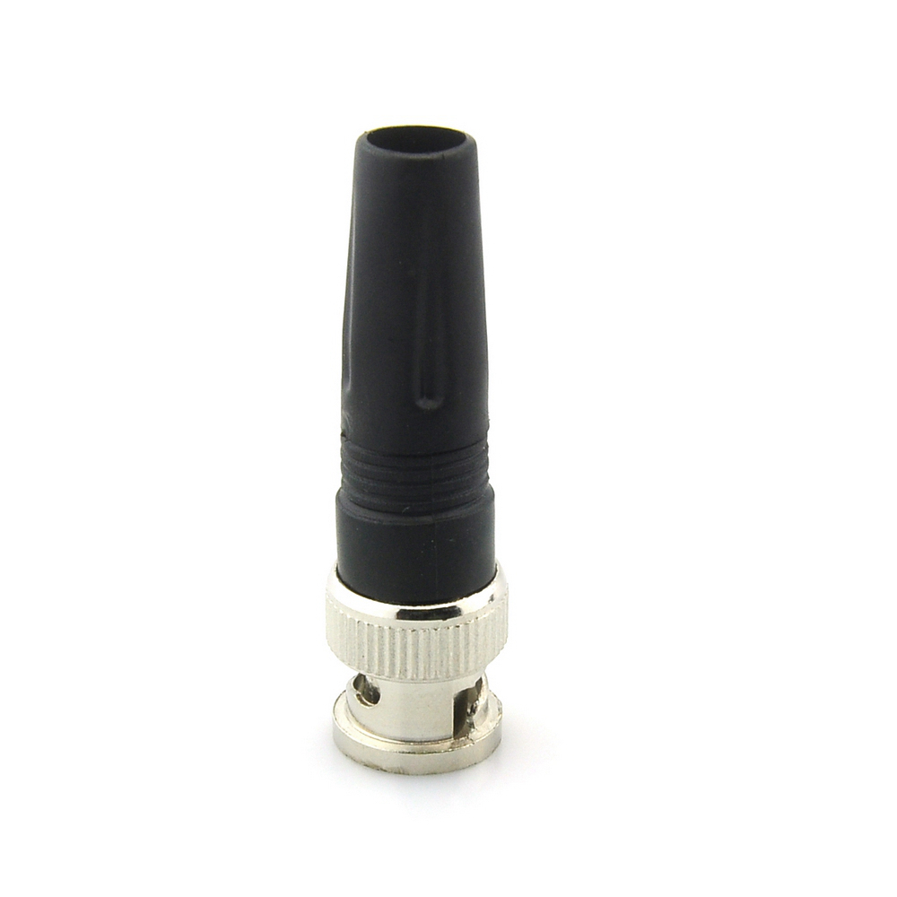 Solderless BNC Male Straight Angle Plug Connector Pin For CCTV Camera