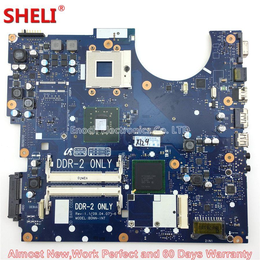 SHELI BA92-05528A BA92-05528B Laptop Motherboard For Samsung NP-R522 R522 R520 BONN-INT BA41-01040A Main Board System Board цена