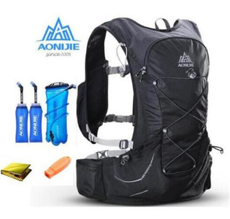 AONIJIE 15L Outdoor Lightweight Hydration Hiking Backpack Vest Marathon Running Cycling Backpack For 3L Water Bag