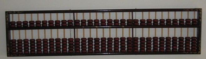 Vintage noir grande décoration Abacus Chinse soroban 29 colonne pour comptable, outil de banque dans l'éducation mathématique xmf068