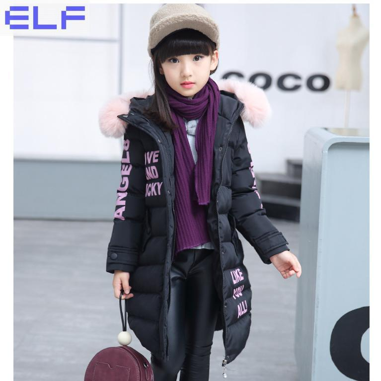 Children's Winter Cotton Warm Jacket Cotton-padded Jacket Clothes Winter Parkas for Girl Lively Coat With Fur Hood Clothing new 2017 men winter black jacket parka warm coat with hood mens cotton padded jackets coats jaqueta masculina plus size nswt015