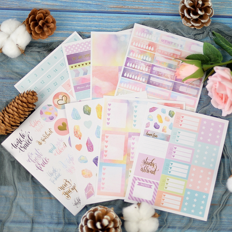 Lovedoki 2020 Beautiful Clouds Sticker Notebook Planner Decorativ Bullet Journal Stickers Japanese Stationery School Supplies