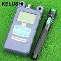 KELUSHI Medidor De Energia De Fibra Óptica-70dBm ~ + 10 dBm De Potência E 20 mW De Fibra Óptica 15 KM Visual Cabo De Fibra Óptica Fault Locator Tester