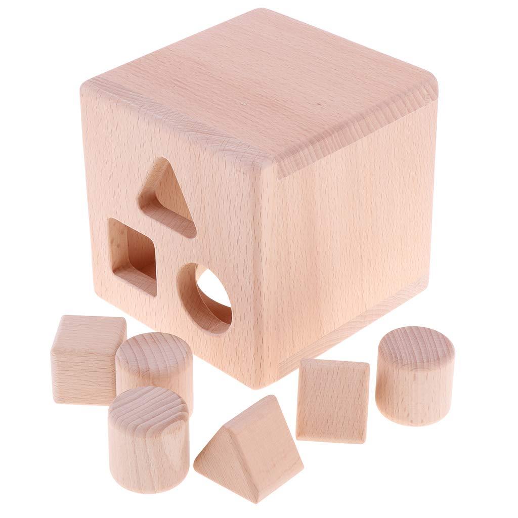 Kit de blocs de construction géométriques en bois tri jeu d'empilage sensoriel apprentissage précoce jouets éducatifs cadeau pour enfant en bas âge enfant